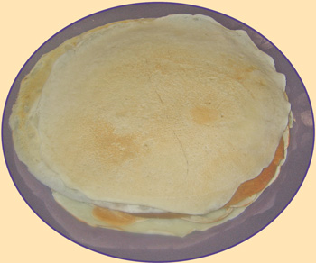 A plate of Pancakes ready to be filled